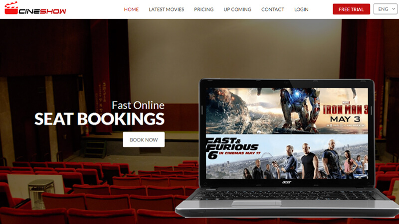 Cine Show | Cinema/Movie Entertainment HTML Bootstrap Responsive ...