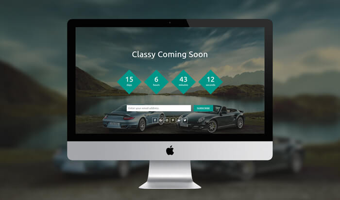 Classy Coming Soon Template